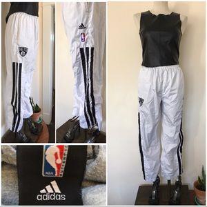 Adidas white track pants